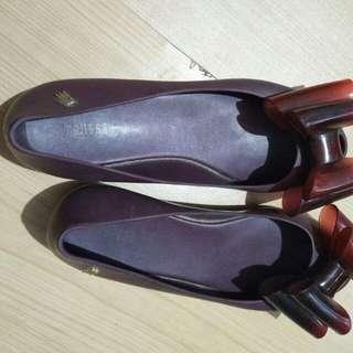 Flat shoe size 37 insole 23. Melisa jason wu, msh bagus, no box