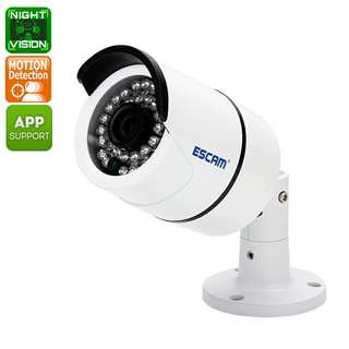 ESCAM QD410 IP Camera - 1/3 Inch CMOS, 2592x1520 Resolutions, H.265 Compression, ONVIF 2.0, iOS & Android App, 15M Night Vision (CVAIA-I597)