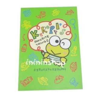 全新購自日本 Sanrio 青蛙仔 Keroppi 珍藏單行簿 From Japan Cute Note Book