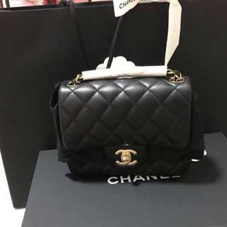 Authentic chanel square mini bag