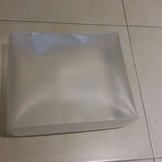 Transparent gift box with handle