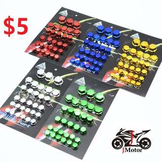 Bolt Nut Covers / Colour Nuts motorcycle screw cap chrome