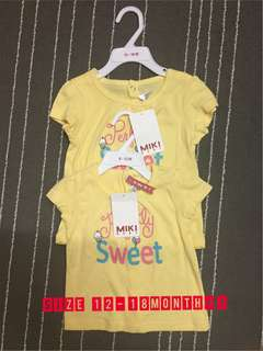 MIKI KIDS SHIRT NEW WITH TAG