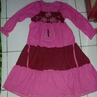 #MakinTebel Baju muslim anak pink
