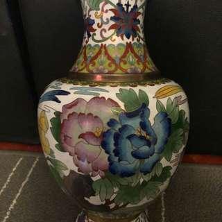 Antique Rare 1940 Cloisonne Vase (Jin Tai Lan)