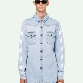 Off white denim shirt