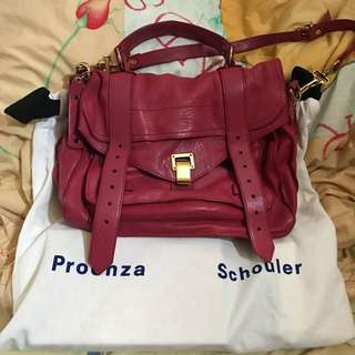Proenza Schouler PS1 Medium Raspberry color