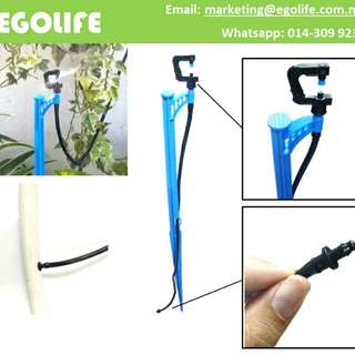 G-Type Micro Sprinkler with 60cm Stake for Home & Gardening Irrigation