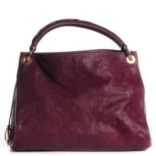 LV Artsy Monogram Empreinte Red Leather Bag