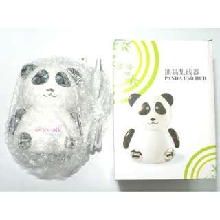 全新有盒 Panda USB HUB 熊貓分線盒/集線器 4個2.0高速USB接口 接後眼睛會點亮