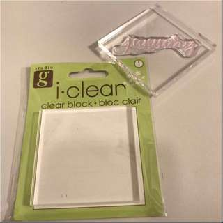 Clear Acrylic Block for Stamps