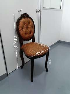 Wooden Chair With Alligator  Leather Cushion (1pc only)