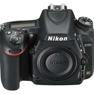Nikon D750 FX-format Digital SLR Camera - Dp ringan Tanpa CC