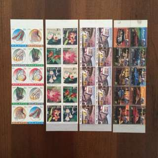 Malaysia 1990 series stamp booklet