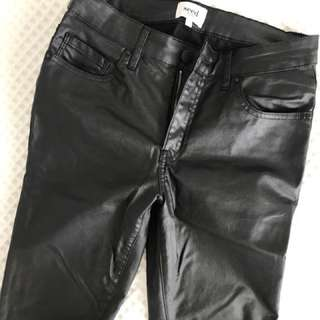 Seed leather look jean size 8