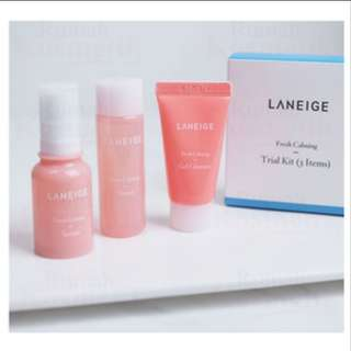 Laneige fresh calming trial kit 3item