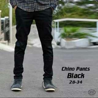 Celana chino panjang hitam premium DC ZARA slimfit kantor