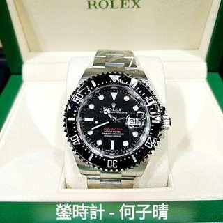 Rolex 126600 單紅43MM  行貨888 2018錶 全套齊 99.9新 未用品 全錶原裝膠紙未撕