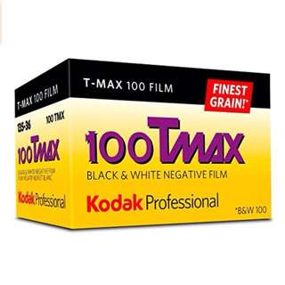 Kodak Professional 100 Tmax Black and White Negative Film (ISO 100) 35mm 36 Exposures