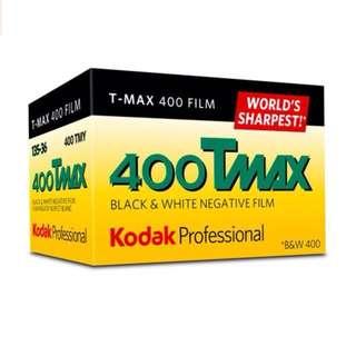 Kodak 400 TMAX Professional Black & White Film ISO 400, 36mm, 24 Exposures