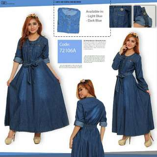 Dress biru panjang