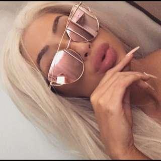 ♡ Rose Gold Pink Sunglasses ♡