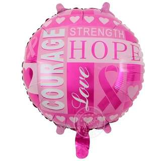 "18"" Hope Courage Strength Love Foil Balloons"