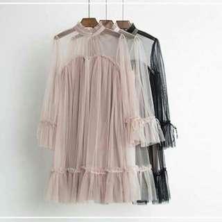 Gaun dress pesta wanita import