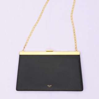 CELINE Clasp Bag in Black