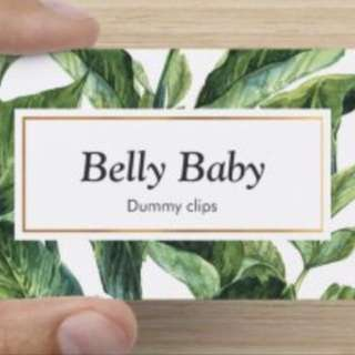 Belly Baby - Pacifier Clip / Dummy Clip / Boy / Girl / Gender Mutual