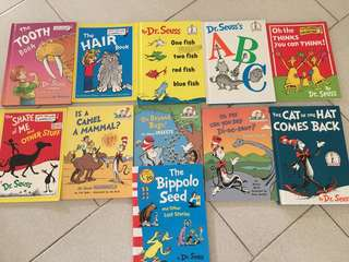Dr Seuss Books - assortment of 11 books