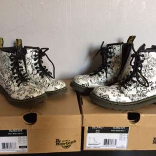 Kids dr marten Model delaney white blanc Size UK 1 & UK 10