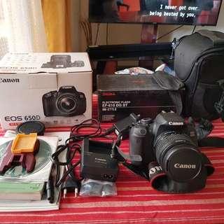 Canon Rebel eos 650d EF-S 18-55 IS II kit
