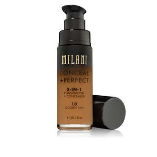 [INSTOCK] Milani Conceal + Perfect 2-in-1 Foundation + Concealer (10 Golden Tan)