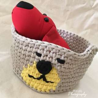 Crochet animal shape storage