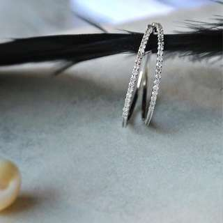 25mm閃石耳環 25mm Crystal Earring
