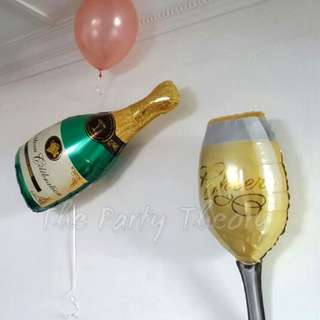 Wine and Champagne Balloon set
