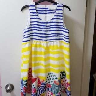 海灘feel 短裙 one piece dress