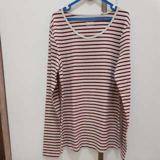 Kaos blouse belang merah putih