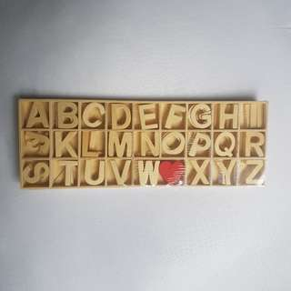 BN wooden letters