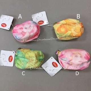 東京迪士尼 瑪麗貓 邦妮兔 奇妙仙子 樂佩 紗質 隨身 零錢包 小物包 萬用包 收納包