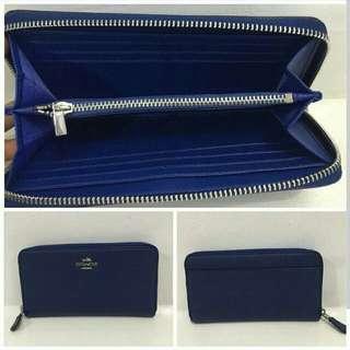 ✔FREE SHIP Coach Long Wallet Blue