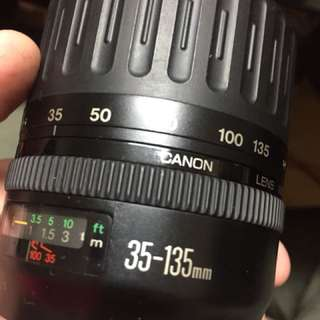 鏡頭 Len 35 135mm af eos for canon ef 含前後蓋