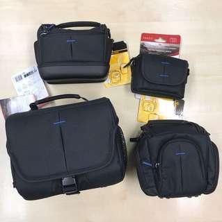全新相機袋連背帶4個 4brand new camera bags with straps
