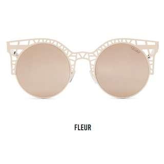 Quay Australia Gold Rose/Rose Fleur Sunglasses