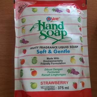 New! Handsoap Dee dee Strawberry Wangi Reffil ya