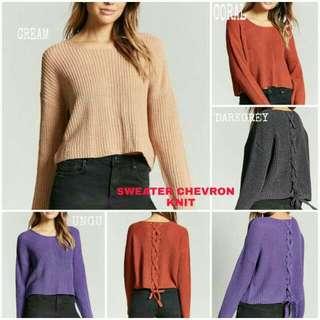 Sweater Chevron Knit