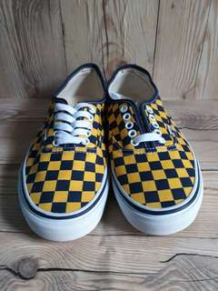VANS ORIGINAL AUTHENTIC CHECKERBOARD YELLOW BLUE