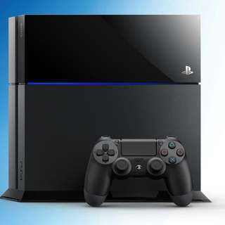Playstation 4 500GB with an extra controller and 4 games