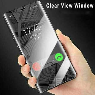 Samsung A7 2018 Flip Cover Mirror Smart Case Autolock Magnet